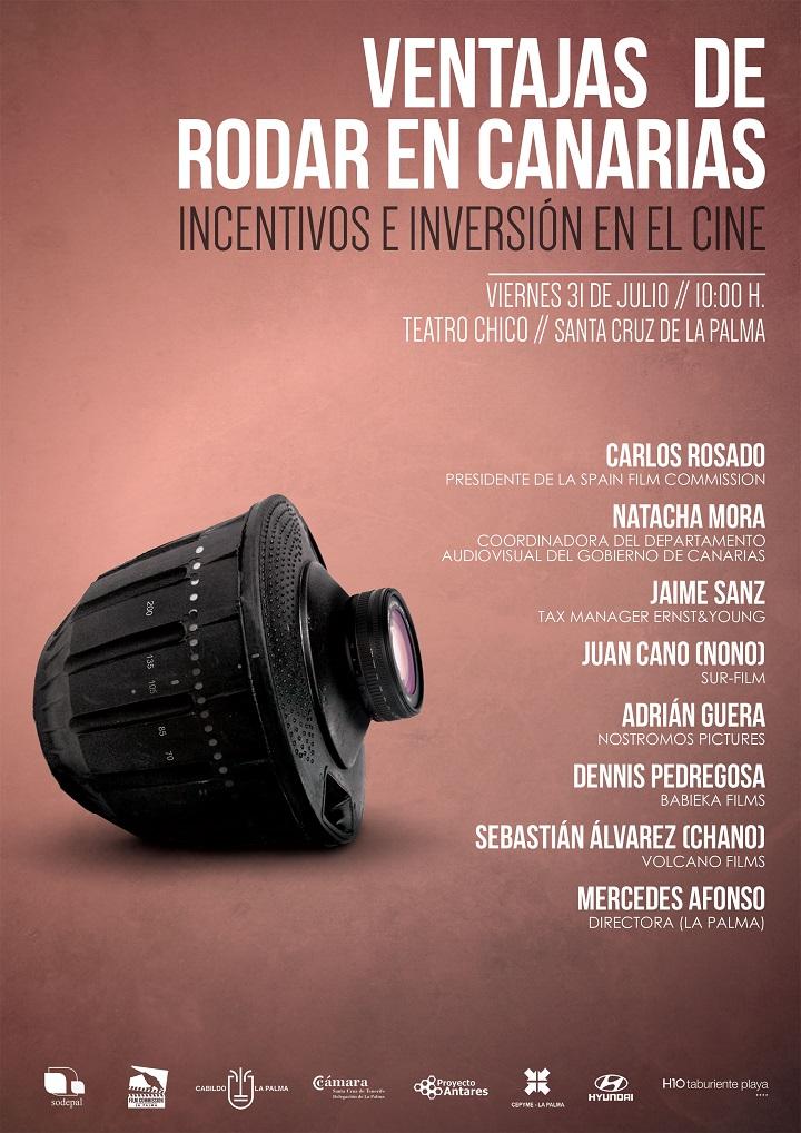 Cartel Jornada Ventajas de rodar en Canarias